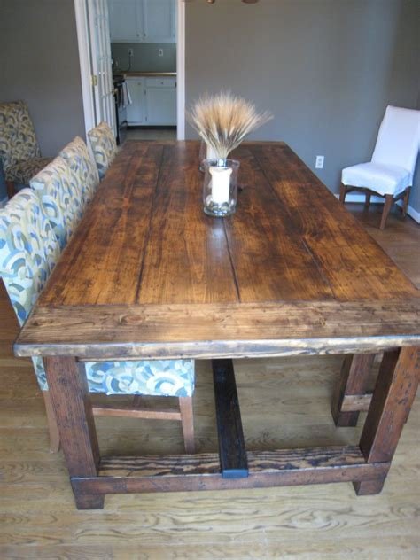 how to build a rustic table diy wood design build wooden dining table plans