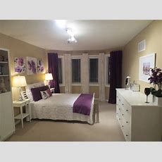 White, Purple, Beige, Bedroom, Ideas  For The Home