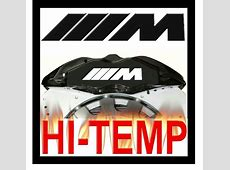 BMW M POWER LOGO HIGH TEMPERATURE BRAKE CALIPER DECAL SET