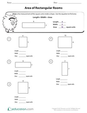 geometry counting area worksheet education com
