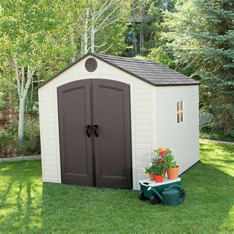 plastic outdoor sheds sentinel 8 x 10 plastic storage shed by lifetime