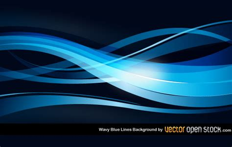 abstract blue background with wavy lines wavy blue lines background coolvectors