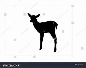 Fawn Silhouette Stock Vector Illustration 33914920 ...