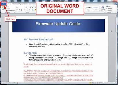 Word Help Microsoft Menu Option Word2010 Save