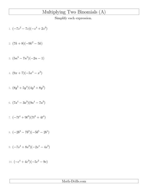 images  multiplying polynomials worksheet math