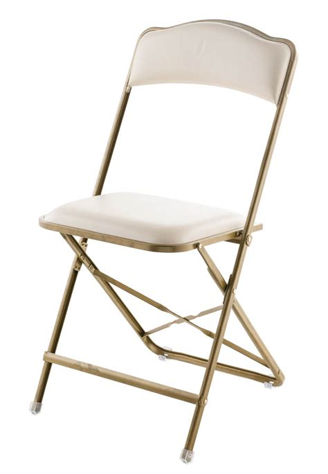 fritz style folding chair with gold frame folding