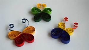Basteln Mit Papierstreifen : schmetterling aus papierstreifen basteln quilling youtube ~ A.2002-acura-tl-radio.info Haus und Dekorationen