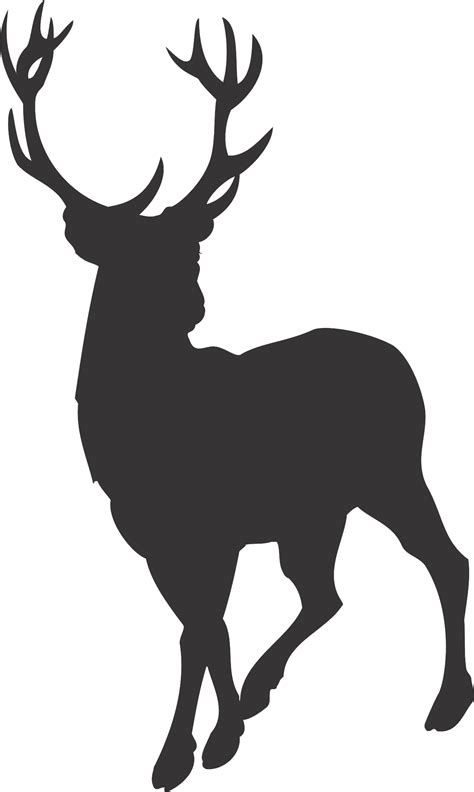 deer   woods clipart silhouette clipground