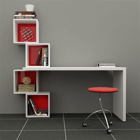 study desk and bookshelf balanced desk bookcase white red turkish shelving