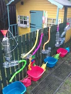 Kinderspielplatz Selber Bauen : spielidee f r den sommer wasserbahn am gartenzaun da werden die kinder ganz sicher spa haben ~ Buech-reservation.com Haus und Dekorationen