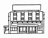 Coloring Hotel Mall Shopping Grocery Coloringcrew Buildings Designlooter 22kb 470px sketch template