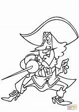 Coloring Musketeer Printable Drawing sketch template