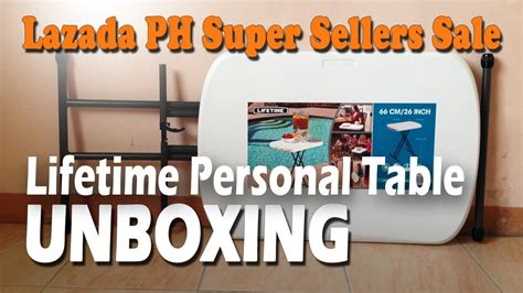 Lifetime Personal Table Unboxing (lazada Ph Super Sellers