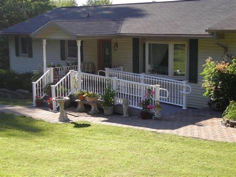 porches project  handicap ramp pocono modular homes mark  excellence construction