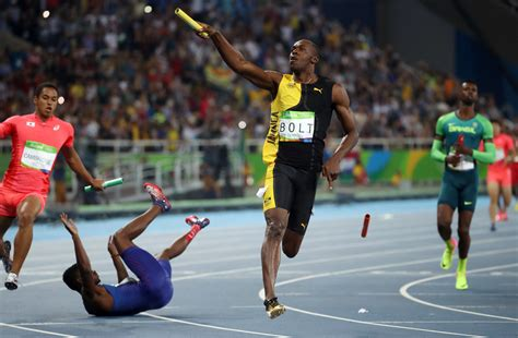 Jamaica's runaway relay win gives Usain Bolt his 9th gold ...