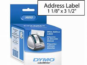 dymo 30252 address label With 30252 address label