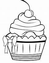 Coloring Cupcake Decorate Desenho Salvo sketch template