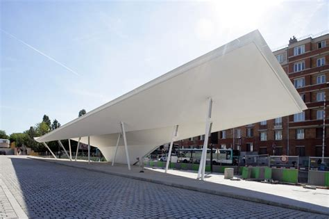 gallery of a canopy and a pavilion at porte des lilas matthieu gelin david lafon 3