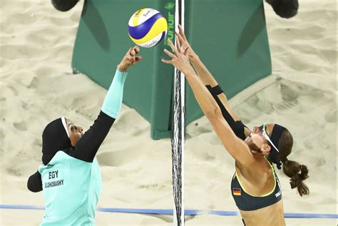 olympics beach volleyball image shows badass woman