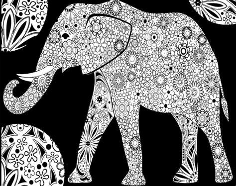 disegno da colorare  velluto  cartoncino elefante