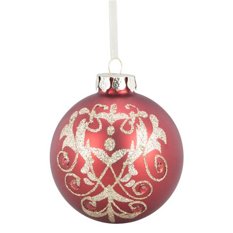 pink baubles next and gold glitter bauble
