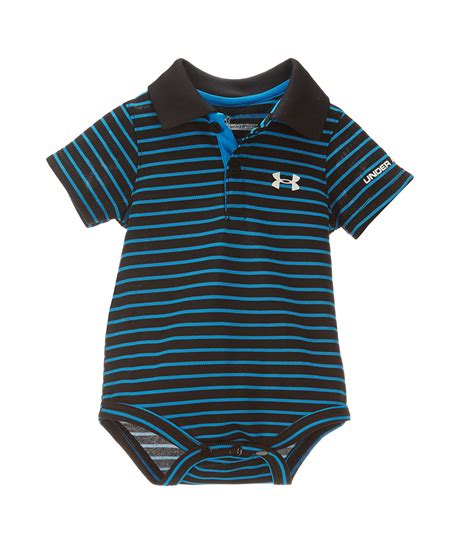 armour baby boys newborn  months striped polo bodysuit dillards
