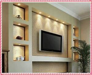 Gypsum tv unit design drywall wall
