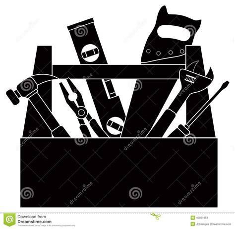 tool kit clipart black and white box clipart silhouette clipground
