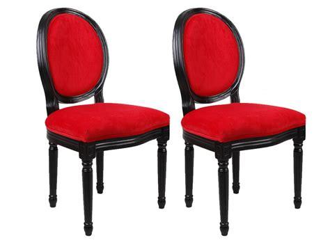 bureau junior chaises louis xvi tissu effet velours 3 coloris