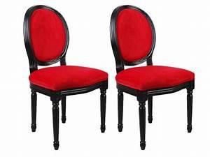 Chaise Louis Xvi : chaises louis xvi tissu effet velours 3 coloris ~ Teatrodelosmanantiales.com Idées de Décoration