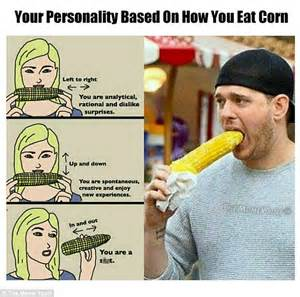 Corn Memes - michael buble reacts after internet meme ifies that picture of him eating corn daily mail online