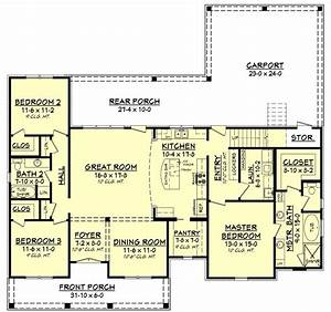 3 bedrm 1900 sq ft acadian house plan 142 1163 for In house plan