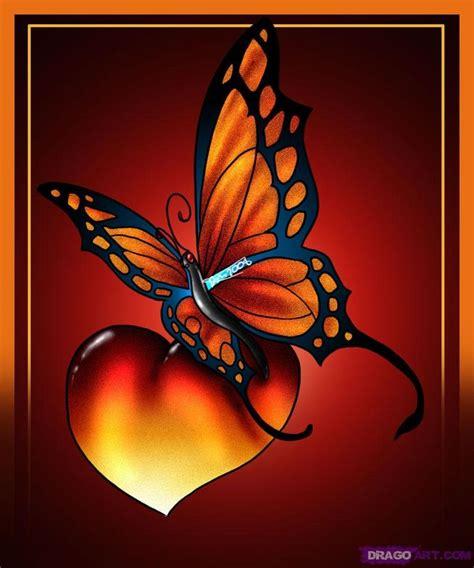 heart  butterfly tattoos images  pinterest