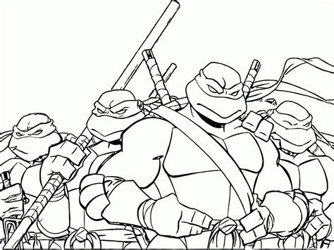 Teenage Mutant Ninja Turtles Coloring Pages Coloring Pages