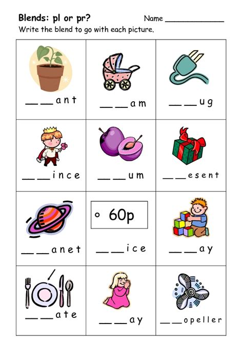 consonant clusters worksheets for grade 2 blends and