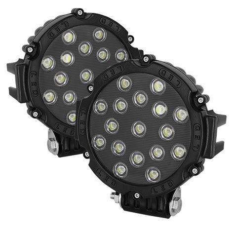 universal road led lights 7 inch 17 led s 51w