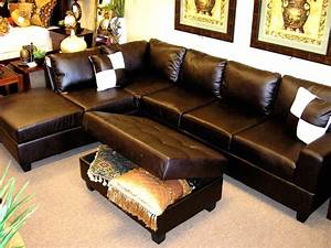 incredible dark brown bonded leather l shaped sectional With espresso tufted sectional sofa corner chaise