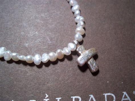 silpada freshwater pearl cross necklace