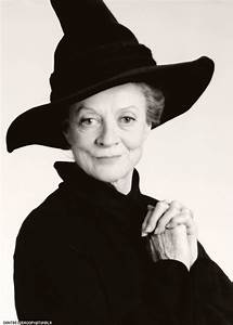 "Maggie Smith in character as ""Minerva McGonagall"" from the ..."