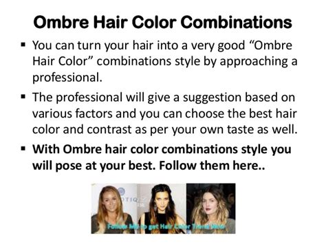 Ombre Hair Color Combinations