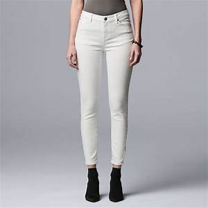 Women 39 S Simply Vera Vera Wang Power Stretch Core Skinny Jeans
