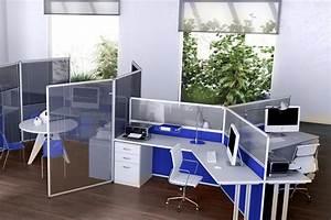 Cloison Acoustique Bureau : cloisonnettes cloison de bureau cloisonnette acoustique ~ Premium-room.com Idées de Décoration