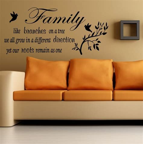 Ebay Wall Decor Quotes by Family Inspirational Wall Wall Quote Sticker