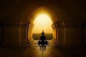 Inside, Buddhist, Temple, Stock, Photo
