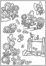 Coloring Garden Pages Flower Gardening Fairy Flowers Colorful Colouring Printable Sheets Insects Landscape Books Bestcoloringpagesforkids Coloringfolder Easter sketch template
