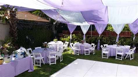 Backyard Party-lavender And White