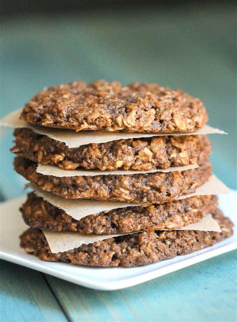 Vegan Gluten Free Chewy Peanut Butter Oatmeal Cookies Recipe