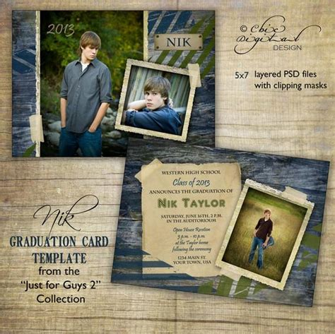 Graduation Announcements Templates Free by Graduation Announcement Card Template For Photographers Just