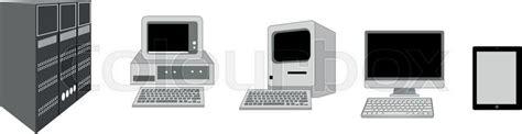 computer evolution   pc  stock vector