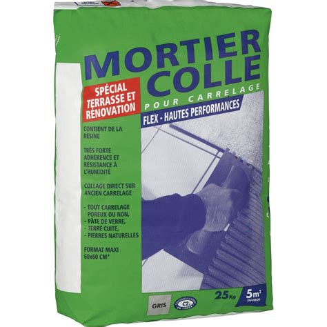 mortier colle flex gris 25 kg leroy merlin